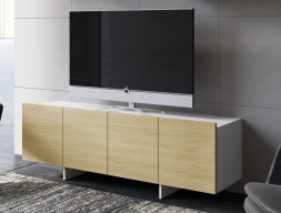 Lacquered and oak TV cabinet. Mod. DANNA