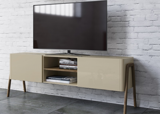Lacquered TV stand. Mod. CAMPBELL