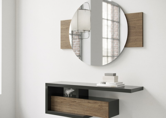 Set of console and mirror. Mod. LUKKA