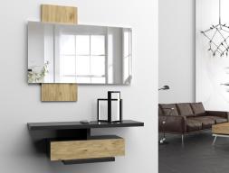 Set of console and mirror. Mod. LICCIA