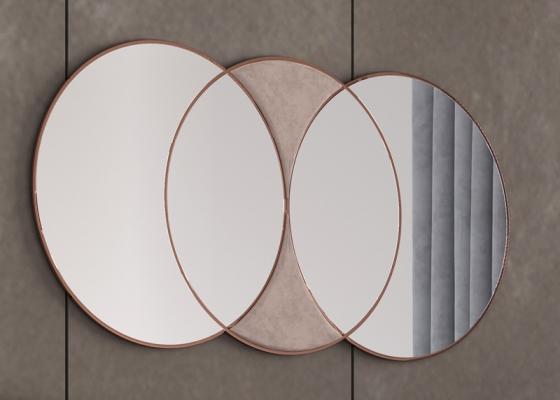 Stainless steel round mirrof. Mod. KAIPA