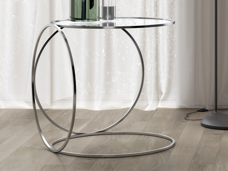 Stainless steel low table. Mod. KAIPA