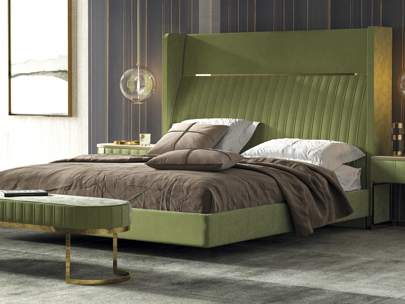 Complete upholstered  bed. Mod: BARDOT