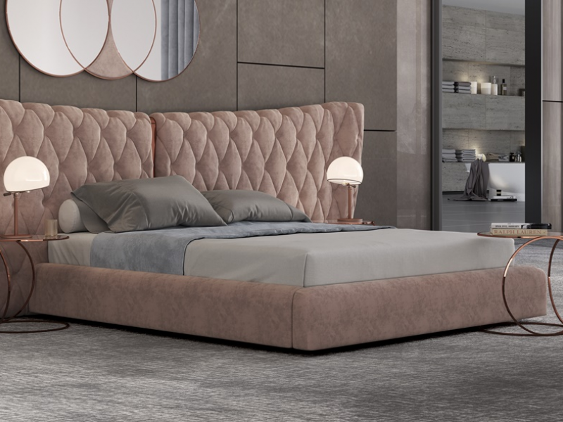 Complete upholstered  bed. Mod: KAIPA XXL