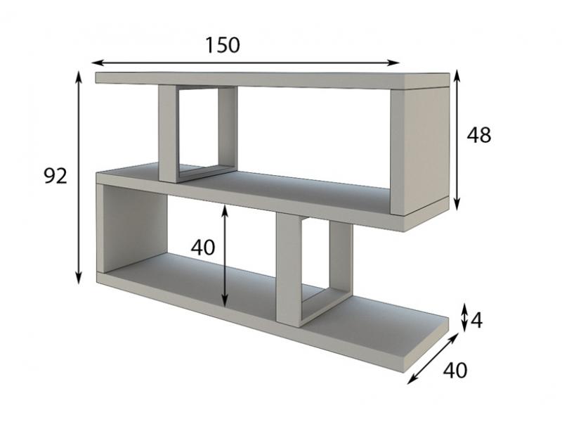 Shelf behind the sofa. Mod. BOOK