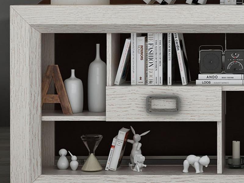 Shelf behind the sofa. Mod. TELVA