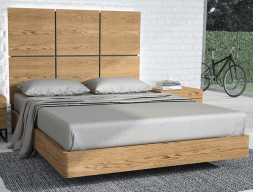 American oak complete bed. Mod. PLAZA