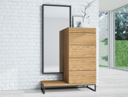 Set of chiffonier and mirror. Mod. PLAZA