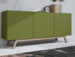 Lacquered sideboard with doors. Mod. DANNES