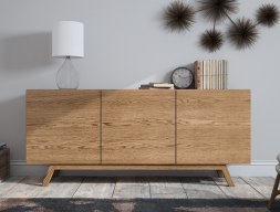 Oak sideboard with doors. Mod. OAK