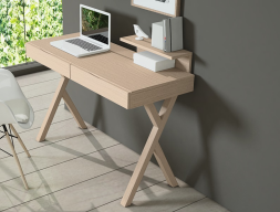 Oak desk office with 2 drawers. Mod. HABANA
