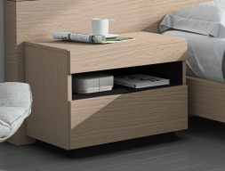 Bedside tables with hollow and drawers - set of 2 units. Mod. HABANA