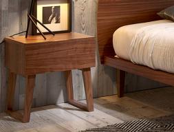 1 drawer bedside tables - set of 2 units. Ref. NOTTE