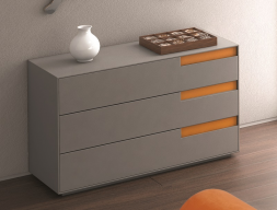 Chest of 3 drawers with soft closing. Mod: LIS