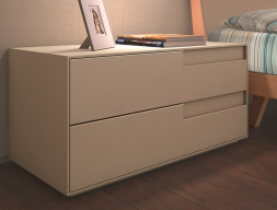 Bedside table with soft closing. Mod: LIS