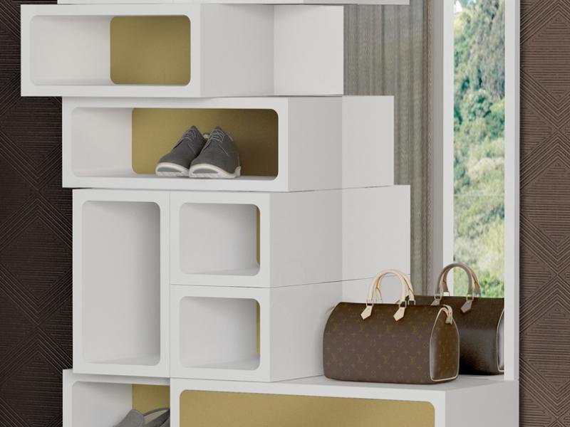 Entrance furniture and shoe rack. Mod. YPRES