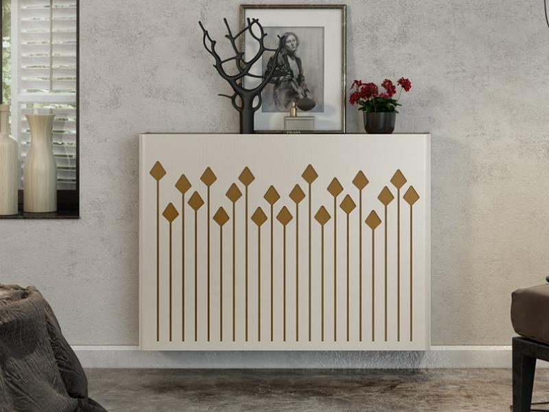 Metallic radiator cover. Mod. CATI