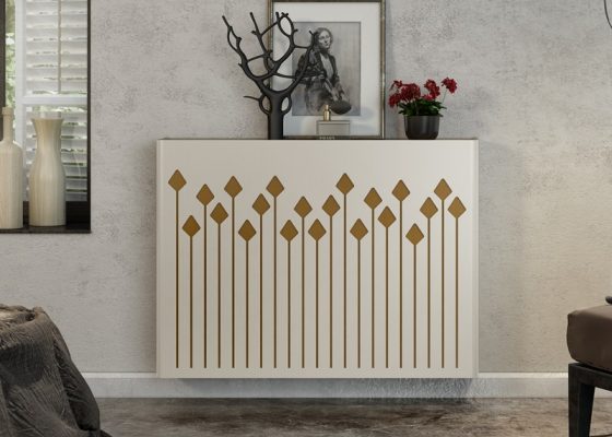 Metallic radiator cover. Mod. CATI