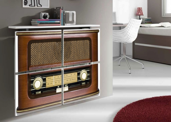 Radiator cover. Mod. RADIO