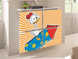 Radiator cover. Mod. POLLO