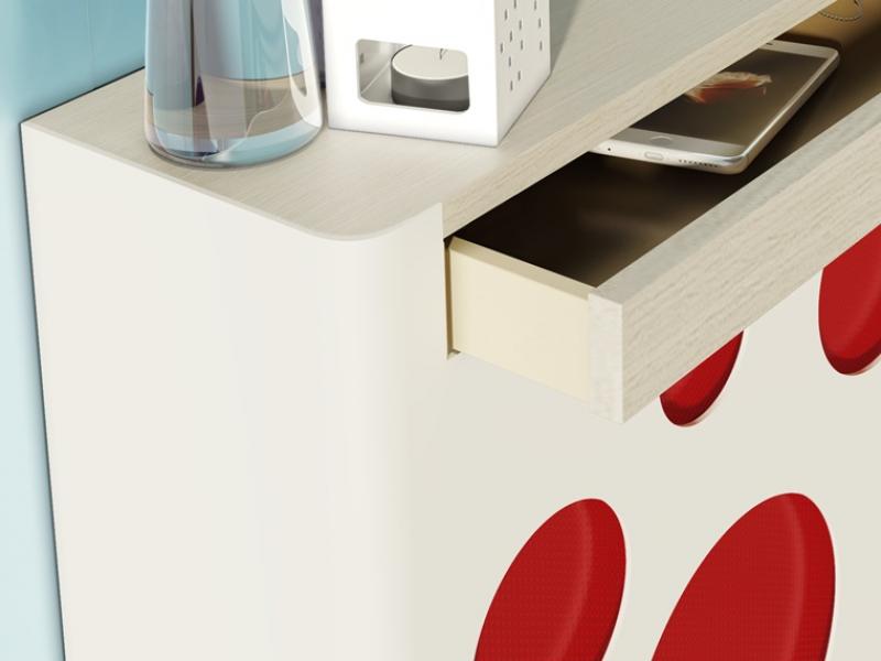Metallic radiator cover. Mod. SAX