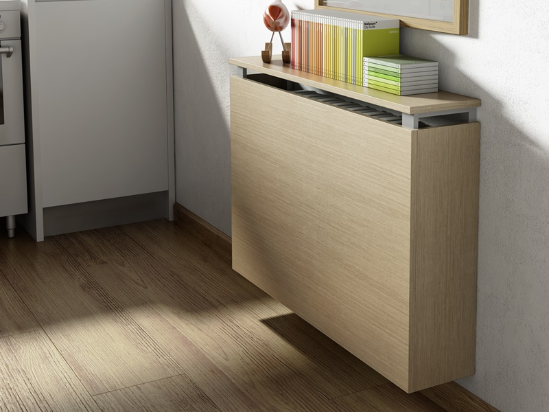 Radiator cover with auxiliary table. Mod. TEULADA
