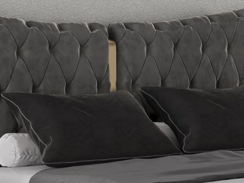 Complete upholstered  bed. Mod: KAIPA