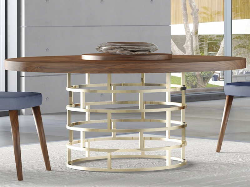 Fixed and extendable round table. Mod. DOLCE