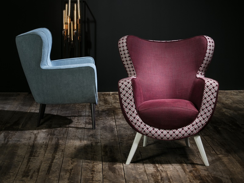 Upholstered armchair. Mod. MILANO