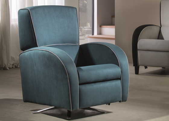 Relax and swivel armchair. Mod: CHURCHILL ROTATING