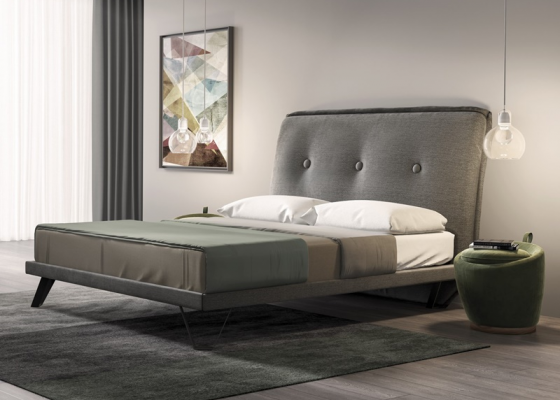 Complete upholstered bed. Mod: PROVENCE