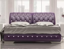 Upholstered complete bed. Mod. NAJMA