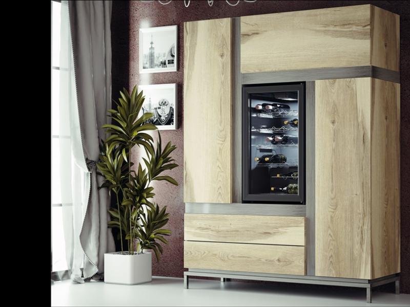 Wine cabinet. Mod: MERLOT