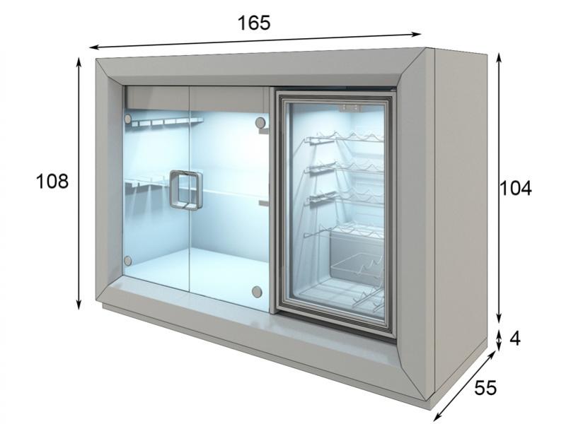 Wine cabinet. Mod: MALBEC