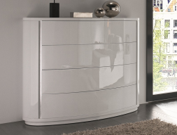 Curved lacquered dresser. Mod. TESSA