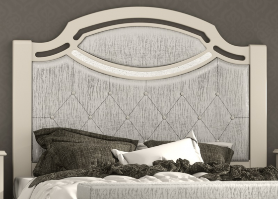 Lacquered and uphosltered headboard. Mod. SUITE2180