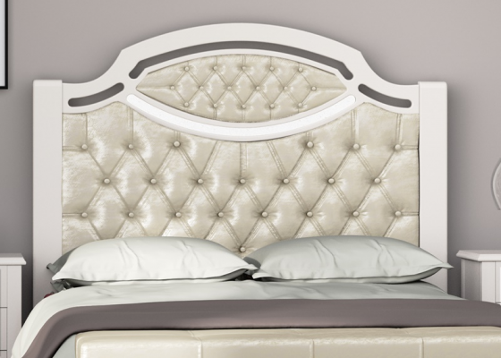 Lacquered and uphosltered headboard. Mod. SUITE2240