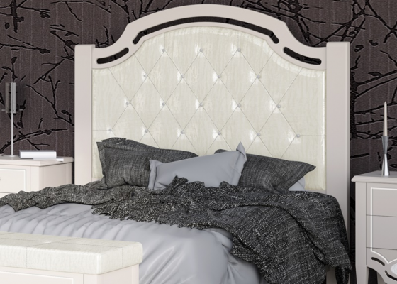 Lacquered and uphosltered headboard. Mod. SUITE2390