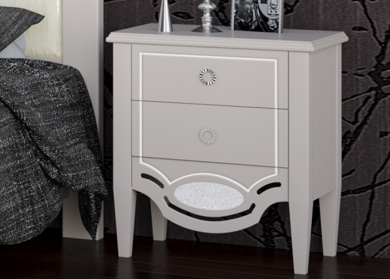 2-drawer lacquered bedside tables - set of  2 units. Mod. SUITE2010