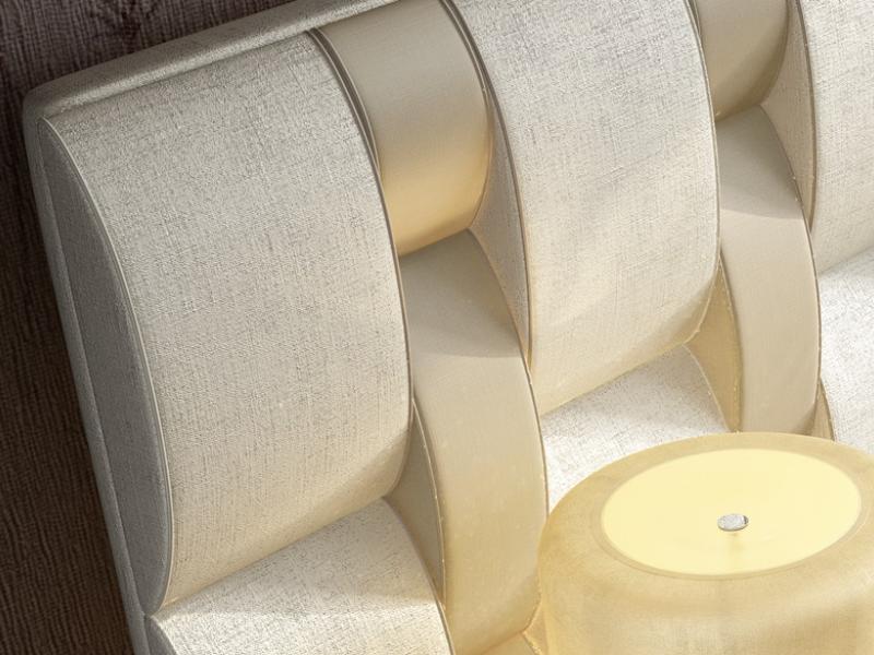 Upholstered  headboard. Mod: NOOR