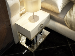 1 drawer bedside tables - set of 2 units. Mod: NOOR