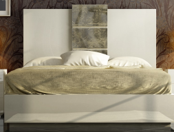Complete lacquered bed. Mod: YVONNE