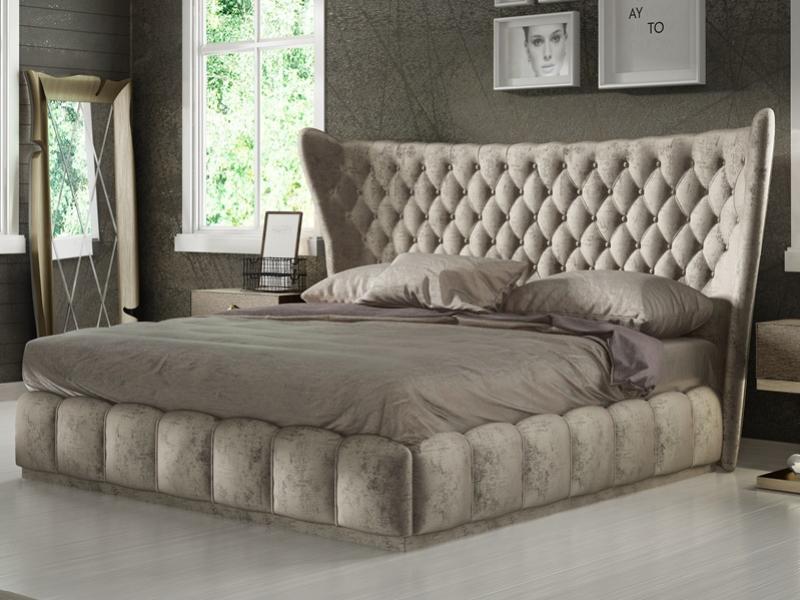 Upholstered complete bed.Mod: SASHA
