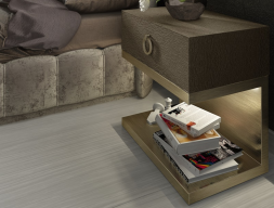 1 drawer bedside tables - set of 2 units. Mod: SASHA