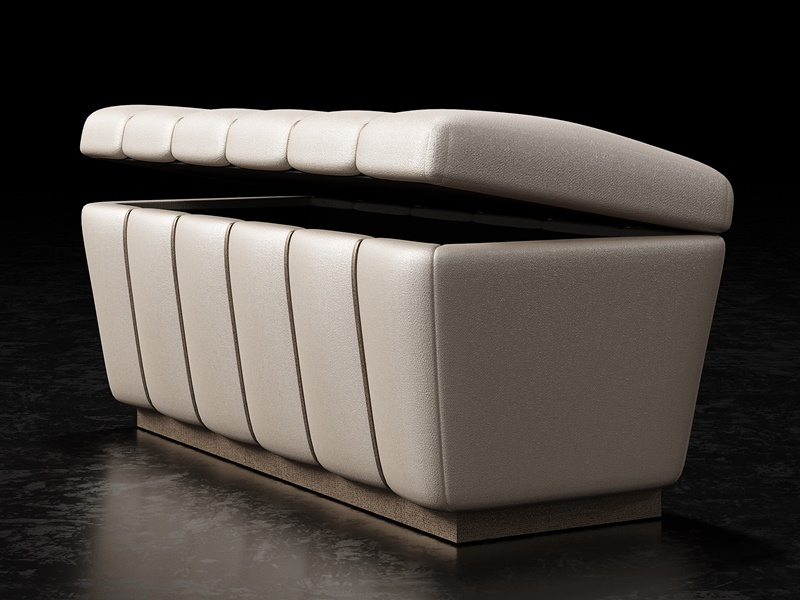 Design upholstered bench. Mod. ZARAH