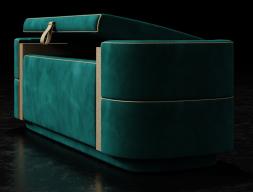Design upholstered bench. Mod. VERDI