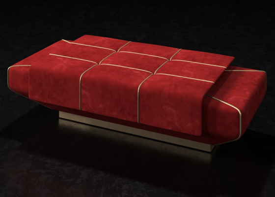 Design upholstered bench. Mod. SOPHIA