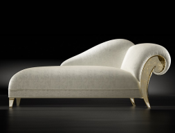 Upholstered lounge chair.Mod: DALIDA GOLD