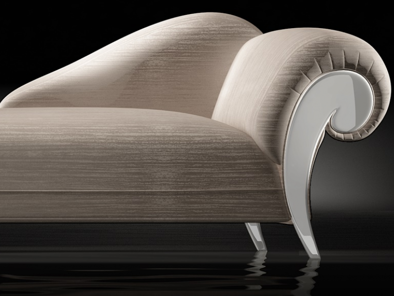 Upholstered lounge chair. LACQUERED DALIDA