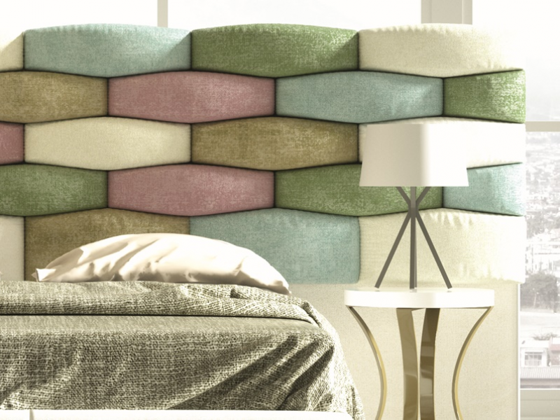 Upholstered large headboard. Mod. EYLEM